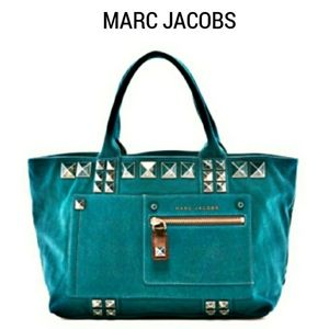 NWT MARC JACOBS Canvas Chipped Stud Tote …